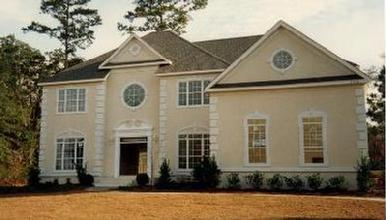 Stucco 2 story southern traditional