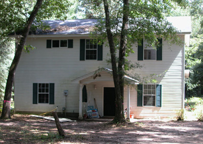 """before remodeling, Original house, 1/4 of the bottom floor, is 8"""" lower"""